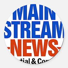 Mainstream_News_2 Round Car Magnet