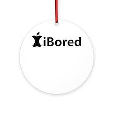 iBored Round Ornament