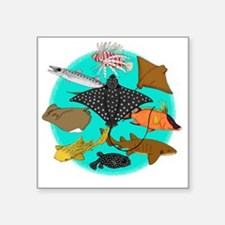 "gotfish Square Sticker 3"" x 3"""