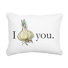I GarlicHeart You Rectangular Canvas Pillow