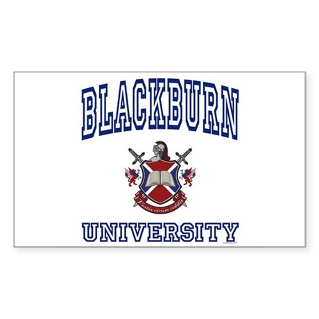 BLACKBURN University Rectangle Sticker