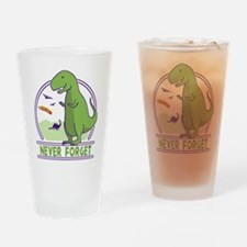 Never Forget Dinosaurs Drinking Glass
