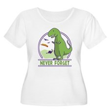 Never Forget Dinosaurs Plus Size T-Shirt