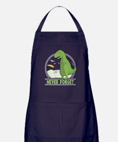 Never Forget Dinosaur Apron (dark)