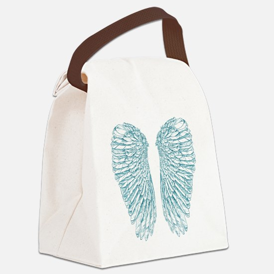 Blue Angle Canvas Lunch Bag