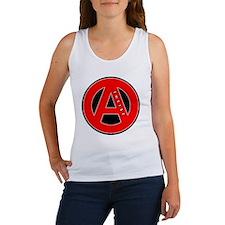 red atheist symbol Women's Tank Top