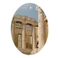 acropolis_print Oval Ornament