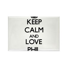 Keep Calm and Love Phil Magnets