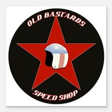 """old bastards2  Square Car Magnet 3"""" x 3"""""""