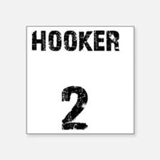 "hooker Square Sticker 3"" x 3"""
