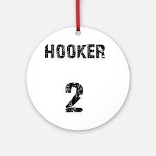 hooker Round Ornament