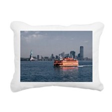 (2) Staten Island Ferry Rectangular Canvas Pillow
