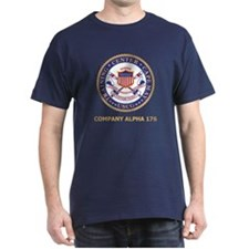 USCG Recruit Company A176<BR> Blue T-Shirt 2
