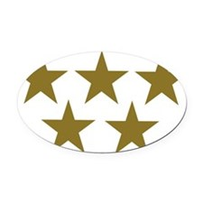 stars_gold_five_2 Oval Car Magnet