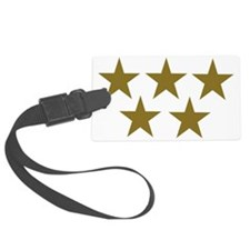 stars_gold_five_2 Luggage Tag