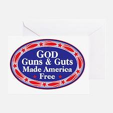 god guns guts Greeting Card