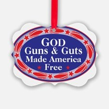god guns guts Ornament