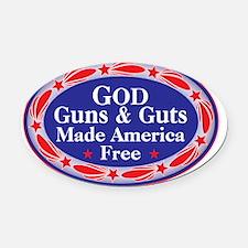god guns guts Oval Car Magnet