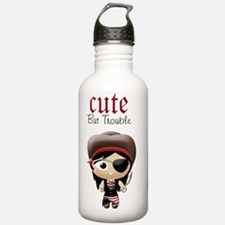 Cute But Trouble Pirat Water Bottle