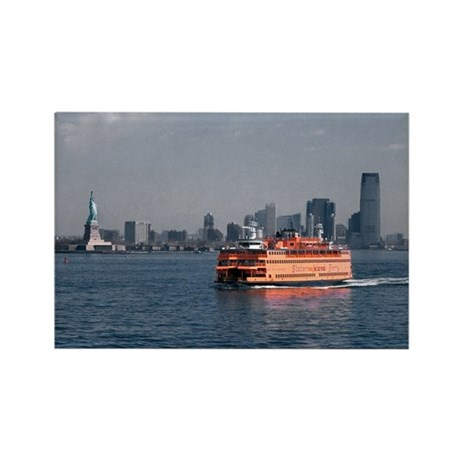 (6) Staten Island Ferry Rectangle Magnet