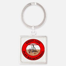 racquetball2 Square Keychain