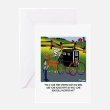 Horse Got in to GMO Hay Greeting Card