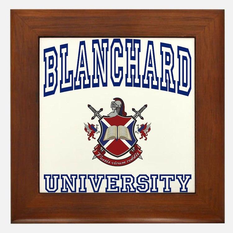 BLANCHARD University Framed Tile