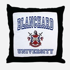 BLANCHARD University Throw Pillow