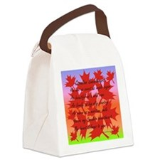 Canadian Sweetheart Canvas Lunch Bag