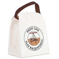 racquetball1 Canvas Lunch Bag
