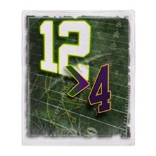 12 Greater than 4 Funny Grunge Throw Blanket
