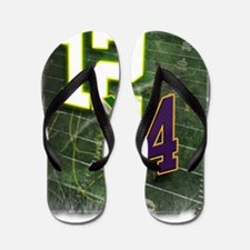 12 Greater than 4 Funny Grunge Flip Flops