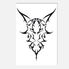 tribal goat single Postcards (Package of 8)