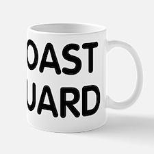 USCG-Text-Black Mug