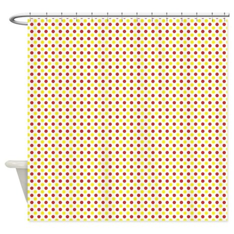Red And Yellow Polka Dots Shower Curtain By Cuteprints