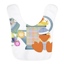 baby ducks and watering can.png Bib