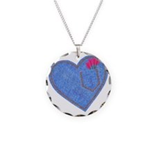 2-0001CupidDenimHeart-with-p Necklace