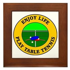 table tennis3 Framed Tile