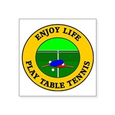 "table tennis3 Square Sticker 3"" x 3"""