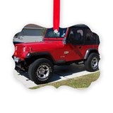 Jeeps Picture Frame Ornaments