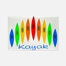 kayakrainbowforblack Rectangle Magnet