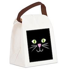 'Black Cat' Canvas Lunch Bag