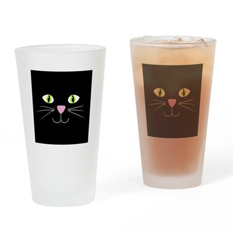 'Black Cat' Drinking Glass