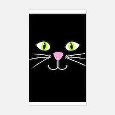 'Black Cat' Sticker (Rectangle)