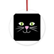 'Black Cat' Ornament (Round)