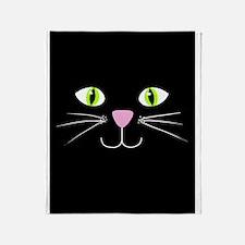 'Black Cat' Throw Blanket