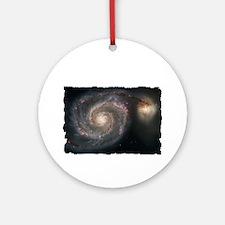 Cosmos T-Shirt-Dark Round Ornament