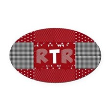 RTR houndstooth Oval Car Magnet