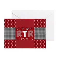 RTR houndstooth Greeting Card