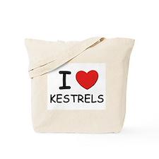 I love kestrels Tote Bag